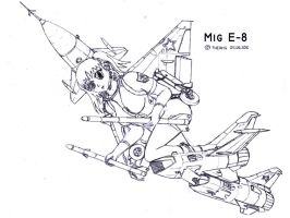 Mig E-8 Meha musume by TheXHS