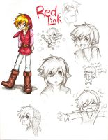 Red Link Sketches by ShadyBlade-TrueWolf