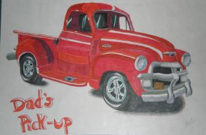 1954 Chevy Pick-up by PunkIn-Kitty