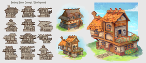 Fantasy House Concepts by Spikings