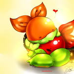 Turtle bbies: Mikey and Raph by XxLevanaxX