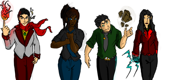 Team Avatar: Resevoir Dogs style. by Anarchy-1-0-1