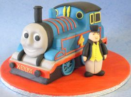 Thomas the Tank Engine Cake by ginas-cakes