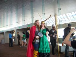 Lady Loki and Thor by DarkWaltzFairy