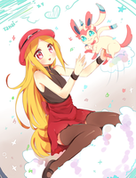 Pokemon XY - Fem. Protagonist and Ninfia by hyuugalanna