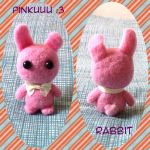 Pink Rabbit   needle felted by Rasa-chi