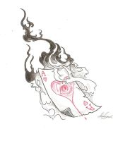 Ace of hearts tattoo by Jadow