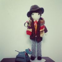4th Doctor - with sonic screwdriver by TheCraft-Melody