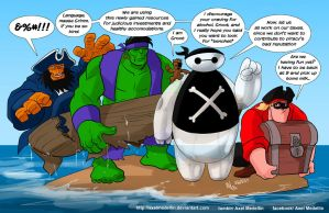 TLIID 343. Dreaded Pirate Baymax and friends by AxelMedellin