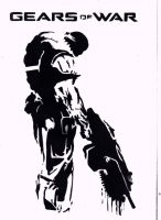Marcus black and white stencil by DMSpray