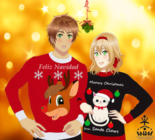 APH: Adorkable Christmas Sweaters~ by KIMKIM14