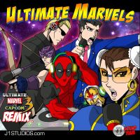 Ultimate Marvels: UMVC3 remix album cover by levonn78