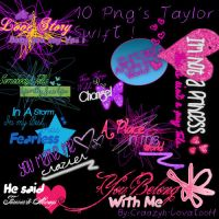 Taylor Swift Lyrics Text Png by Craazyh-LovatooH