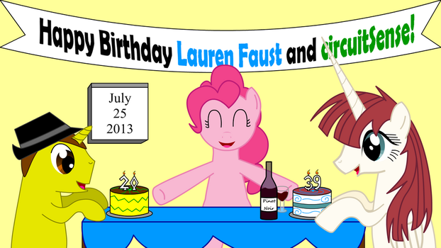 Ponified Birthdays: Lauren Faust and Me! by circuitsense