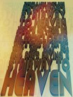 Stairway to Heaven Typographic Art by ecolle