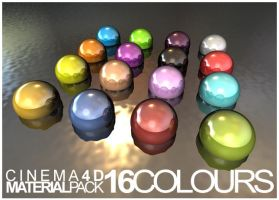 16 Cinema 4D Materials by VisualOverdose
