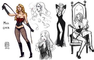 Sketch Page_Miss Cook by BlackBirdInk