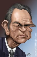 Tommy Lee Jones caricature by lufreesz