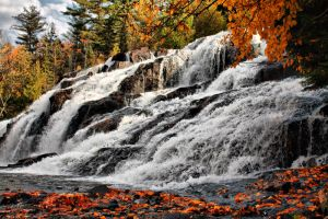 Bond Falls in Fall by Originalbossman