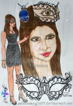 Katherine Pierce Marquerade Drawing  More Shadows by JadeTheAngle777