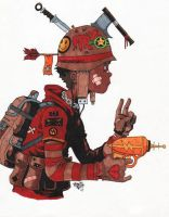TankBoy Marker Sketch by bestsketch