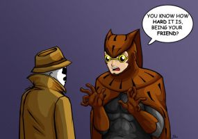 A Friend To Rorschach by Biigurutwin