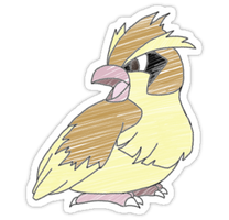 Pidgey Sticker by spot1the2dog3