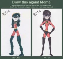 Violet Parr: Before and After by TheGirlOnXboxLive