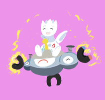 Magnezone and Togetic by MareckiRAWR