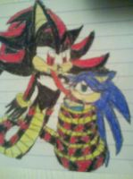 Naga Shadow and Female Sonic by PrincessShannon07