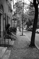 black and white street by KellyCasaday