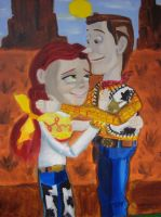 Woody and Jessie in the sunset by spidyphan2