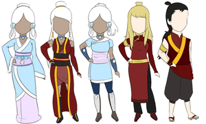 Custom AtLA Adoptables for xXPassingLightXx by FudgeNugget