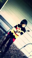 Young Justice FemRobin Cosplay by Pathlon
