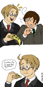 Why Won't Romano Eat It :( by Lonely-Paperclip