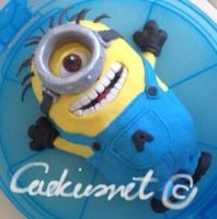 Minion Cake by Cookiesnet