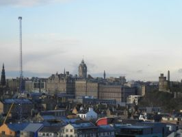 Cityscape Edinburgh 4 (from the hill) by Cippman