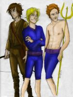 The Men of Hunger Games color by dede23