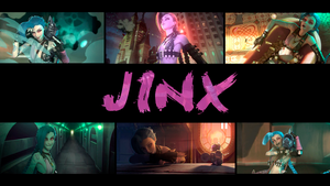 Wallpaper Jinx League of Legends by RikkuTenjouSs
