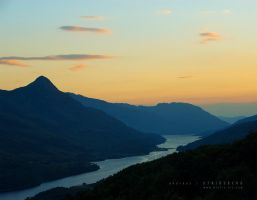 Kinlochleven at Dusk by Stridsberg