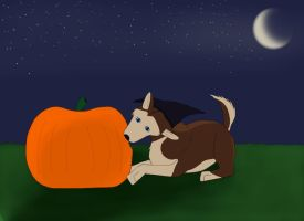 Borre's happy halloween by Hunting-wolf