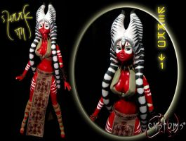 Shaak Ti Felucian Outcast Custom Doll by JVCustoms by jvcustoms