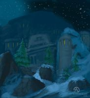 ironforge at night by OceansAndrew