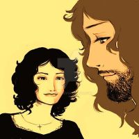 Samantha and Jezus by asuo