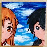 Kirito and Asuna Painting by gummigator