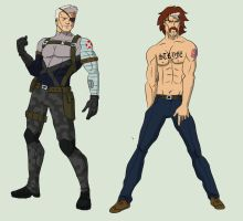Cable and Stryfe by cspencey