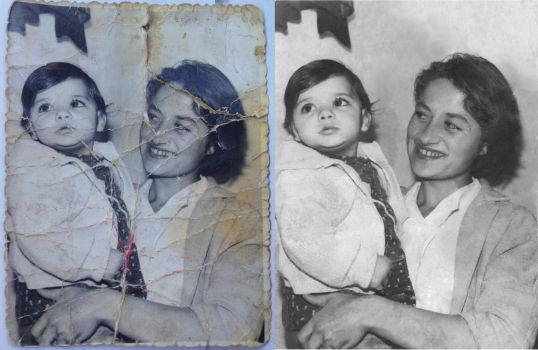 Mother and Daughter - Before and After by Elvira-Miranda