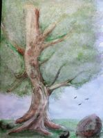 Water Color Tree by FoxeeTreasures