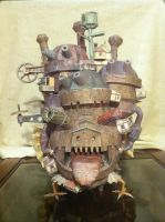 Moving Castle Front View by Dreamparacite
