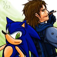 Armistice_Sonic and Snake by maruringo